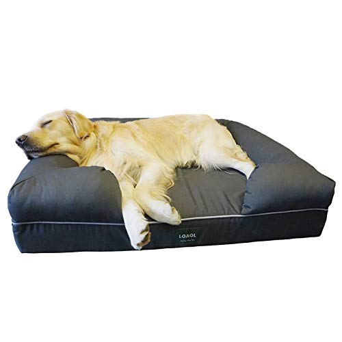 "LOAOL 4""Durable Waterproof Memory Foam Pet Bed Mattress Orthopedic Dog Sofa Couch"