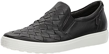 ECCO Women's Soft 7 Woven Fashion Sneaker, Black, 9-9.5 US