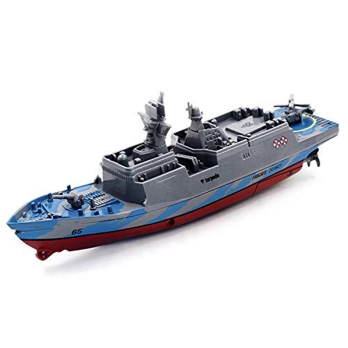 MYRCLMY RC Boat con Control Remoto 2.4Ghz Control Remoto De Control Remoto Portador De Aviones Buque De Guerra Battleship Cruiser Barco De Alta Velocidad RC Racing Toy,A