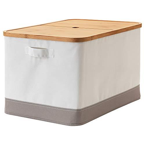 Ikea 403.481.26 Caja con Tapa, Blanco, Madera, Gris