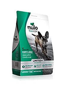 Nulo Puppy & Adult Freestyle Limited Plus Grain Free Dry Dog Food: All Natural Ingredient Diet For Digestive & Immune Health - Allergy Sensitive Non Gmo (Alaska Pollock & Lentils Recipe - 4 Lb Bag)