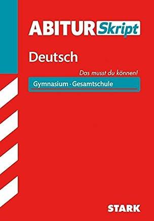 AbiturSkript Deutsch by Fritz Schäffer