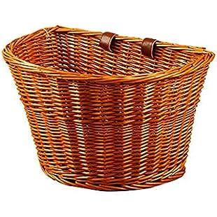 gaeruite Wicker Bicycle Front Bike Basket, Handmade Retro Wicker Front Handlebar Bike Basket, 4 Types:Peliculas-gratis