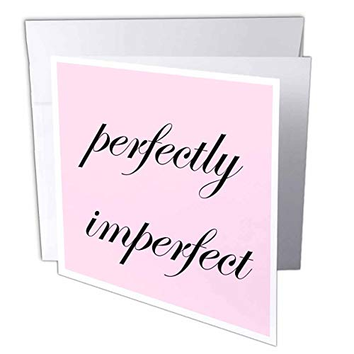 3dRose 3DRose Merchant-Quote - Image of Perfectly Imperfect Quote - 12 Greeting Cards with envelopes (gc_305106_2)