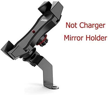 Mirror Not Charger Motorcycle Navigation Holder Moto Bike Handlebar Phone Charge USB Charging Mount Clip Bracket For Mobile Cellphone