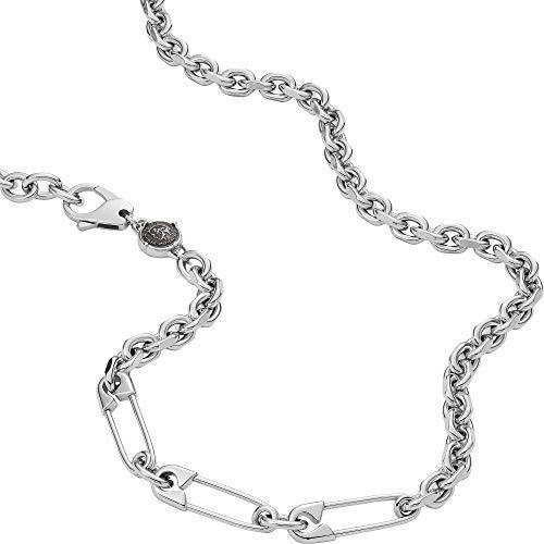 Diesel - , Necklaces Stainless Steel No Gemstones mens, Silver, Height: 26.4mm, Length: 60cm + 5cm, Width: 7.4mm - DX1303040