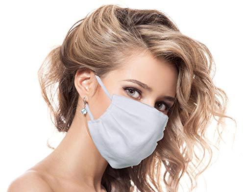Urhome Behelf Mundschutz Maske aus 100% Baumwolle Made in Europa, Kälteschutz Gesichtsmaske, Staubdichte Maske I Gesichtsbedeckung
