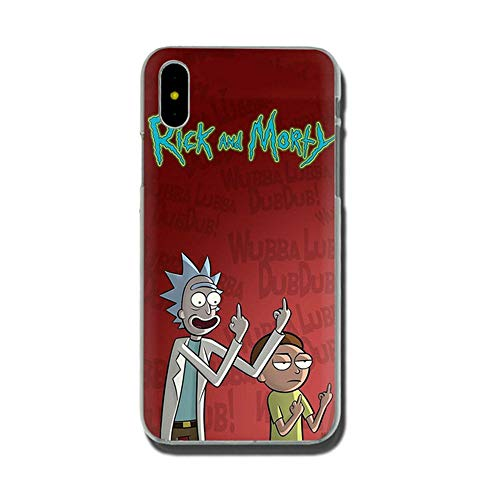 Jztmsk Lke Rlck End Morty Ultra Thin Ultra Slim Fit Soft Silicone Crystal Transparent Bumper TPU Phone Case Compatible with H6 For Funda iPhone 7 8