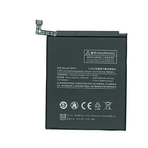 Bateria BN31 para Xiaomi Mi A1 / Note 5A / Note 5A Prime/Redmi S2 / Redmi Y1 /Y1 Lite/Mi A1 / Mi 5X + Kit Herramientas/Tools