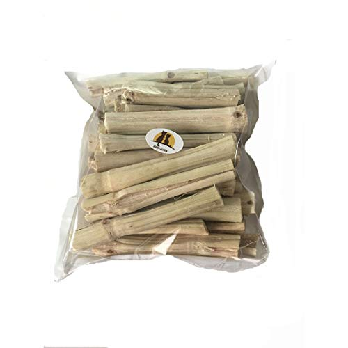 emours Natural Bamboo Stick Teeth Chewing Toy for Rabbits Bunny Chinchilla Guinea Pigs Sugar Gerbils and More (500g)