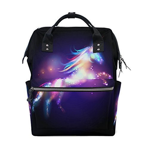 JSTEL Laptop College Bags Student Travel Unicorn Magic with Stars School Backpack Shoulder Tote Bag