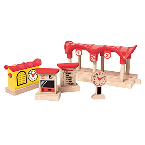 Hape - E3702 - Circuit de Train en Bois - Station de Train
