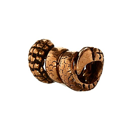 NKlaus Haarperle Bartperle RAGDA Drachenkralle Bronze Lockenperle 6386
