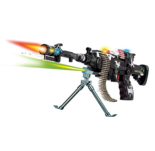 LilPals' 22 Inch Rapid Fire Machine Combat 3 Toy Gun - Featuring Amazing Light and Sound - Keep Kids Active with This Playful Toy