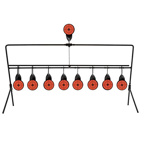 HIRAM Target Stand with 9 Auto Resetting Targets, 1.7 inch Shooting Targets for BB Pellet Airsoft Guns and .177 .20 .22 Caliber Pistols, Shooting Game and Training