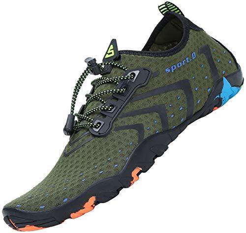 Tmaza Hombre Mujer Secado Rápido Respirable Antideslizante Zapatos de Agua para Vela,Kayak,Buceo,Gr 35-46