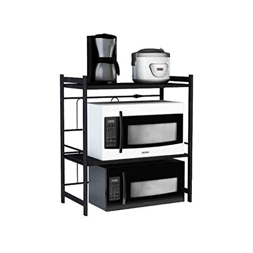 Suministros de organizador de cocina Retráctil de metal de cocina Estante rejilla del horno de microondas estante estante de la cocina de arroz de almacenamiento de pequeño Appliance Exhibición del es