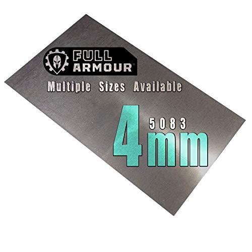 Placa de aluminio de 4 mm, grado 5083, 100mm x 150mm, 1