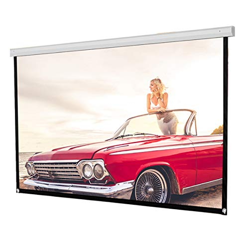 72inch HD Projection Screen, Portable Foldable Outdoor Indoor Wall-Mounted Theater Projector Screen Movie Screen for Home Theater Camping and Recreational Events