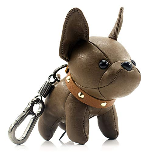 French Bulldog Keychains for Women, SALTY FISH Cute Keychain Accessories for Car Key Chains Ring Bag Charm,Birthday Gifts for Women Men Girls Mom Dad Kids Dog Lover (Brown)