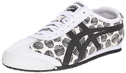 Onitsuka Tiger - Zapatillas unisex para adultos Mexico 66 Vulc Su, color Blanco, talla 41.5 EU
