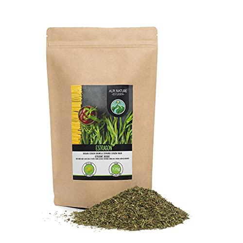 Estragón frotado (125g), estragón secado suavemente, hojas de estragón 100% puro y natural para la preparación de mezclas de especias