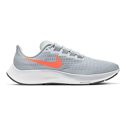 Nike Mens AIR Zoom Pegasus 37 Pure Platinum/Hyper Crimson 11