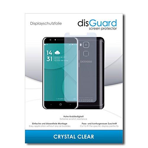 disGuard® Bildschirmschutzfolie [Crystal Clear] kompatibel mit Doogee Y6C [2 Stück] Kristallklar, Transparent, Unsichtbar, Extrem Kratzfest, Anti-Fingerabdruck - Panzerglas Folie, Schutzfolie