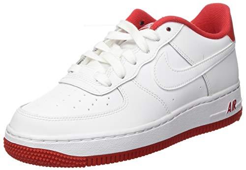 Nike Boys AIR Force 1-1(GS) Basketball Shoe, White/University RED, 39 EU