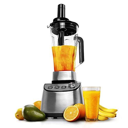 Duronic BL1510 elektrischer Hochleistungsmixer 1500 W | Standmixer | Smoothie Maker | Edelstahl | 2L Tritankrug | Ideal für Smoothies, Frappe, Lassi, Cocktails, Fitnessdrinks, Obst, Gemüse