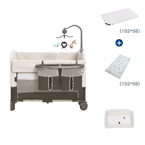 HLR-wieg reizen multifunctionele wieg reizen babybedjes met matras ijs zijde mat luier tafel spel bed draagbare vouwen C