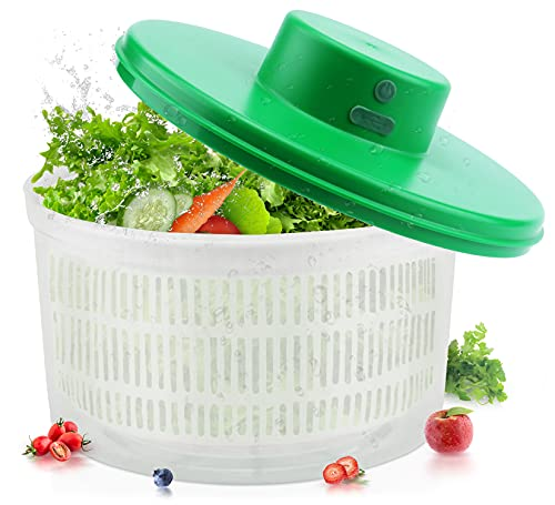 SEDISON Electric Salad Spinner,Rechargeable Lettuce Spinner, Quick...
