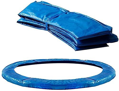 HTDHS Repuesto trampolín Envolvente Almohadilla Espuma protección Seguridad Primavera Cubierta UV Resistente PVC EPE Espuma Padding Almohadillas Azul (Size : 8FT)