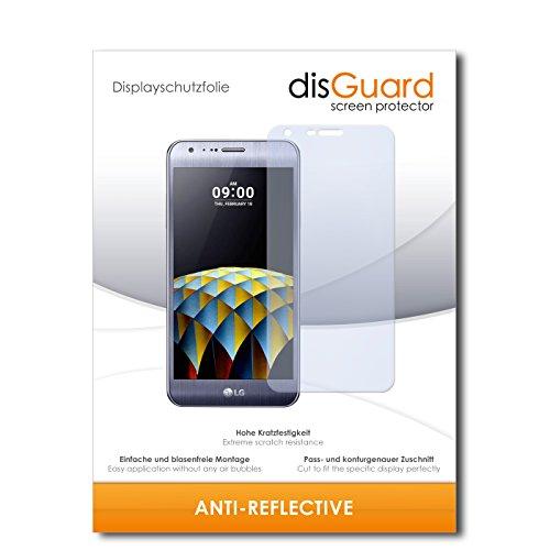 disGuard® Bildschirmschutzfolie [Anti-Reflex] kompatibel mit LG X Cam [2 Stück] Entspiegelnd, Matt, Antireflektierend, Extrem Kratzfest, Anti-Fingerabdruck - Panzerglas Folie, Schutzfolie