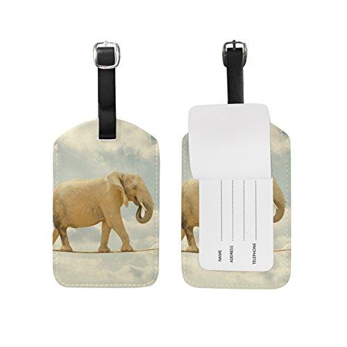 BALII Funny Elephant Luggage tag Suitcase ID Label One Piece