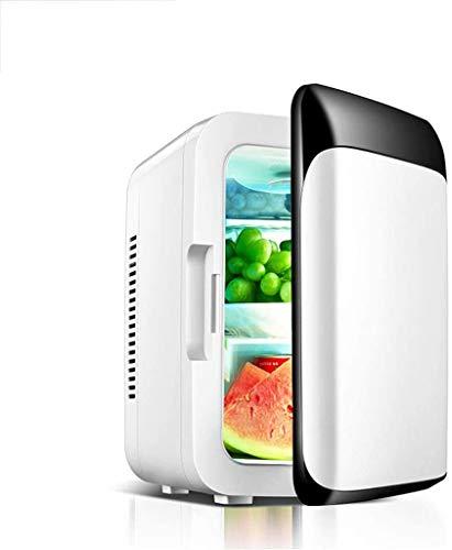 Xyfw Auto Kühlschrank, Tragbare Gefriertruhe Schwarz Weiß Auto Mini Gekühlte Elektronische Kühlbrutschrank 8L