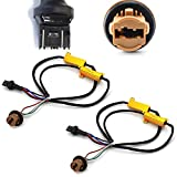 iJDMTOY (2) Hyper Flash/Bulb Out Error Fix Wiring Adapters Compatible With 7443 7444 T20 LED Bulbs Turn Signal or Tail Brake Lights