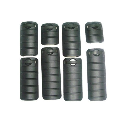 WorldShopping4U 8 Pieces RAS RIS Picatinny Rail Cover Set (Black) 42mm 67mm 80mm 98mm ac23 by Worldshopping4U