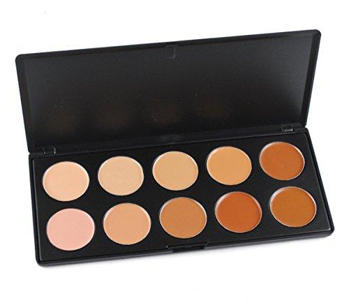 FantasyDay® 10 Couleurs Palette de Maquillage Correcteur Camouflage Crème Cosmétique Set - Parfait pour une Utilisation Professionnelle et Quotidienne