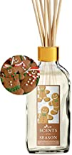 Scents of the Season Gingerbread Cookie Scented Reed Diffuser Set | Home Fragrance | Reed Diffuser Sticks and One 4 oz Bottle | Hand Made in The USA