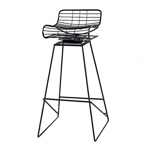 LZQBD Bar Furniture/Bar Stuhl Fußbank Schmiedeeisen Barhocker kann um 360 Grad gedreht Moderne Hocker Frühstück Stuhl als Küchenhocker Metall Bar Laden Chair bis zu 150 kg (schwarz und rot) Sein