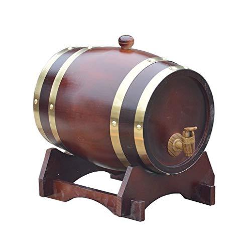 Toneles de Vino Barril de Roble Barril de Madera Botellero de vino de madera, Madera vintage Barril de envejecimiento de madera de roble Barril De Whisky Práctico y duradero, Puede ser utilizado para