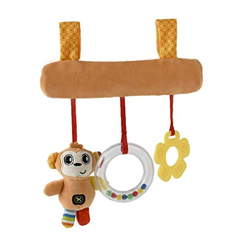 fedsjuihyg Traqueteo del bebé Juguetes de Peluche Mono Cochecito de Juguete Colgante del Lindo Mordedor Juguete de diseño Cama Juguete Colgante Cochecito para niños Bebés