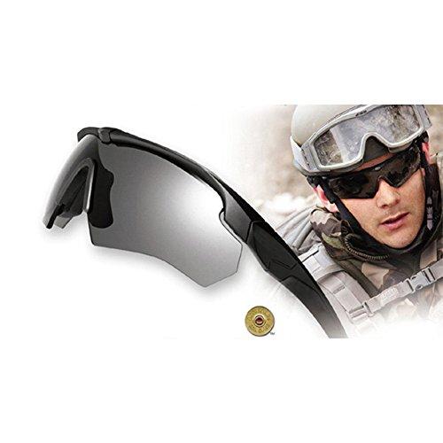 INJOYS Army Sonnenbrille, Kreuzschleife, polarisierende Militär-Sonnenbrille, Schwarz
