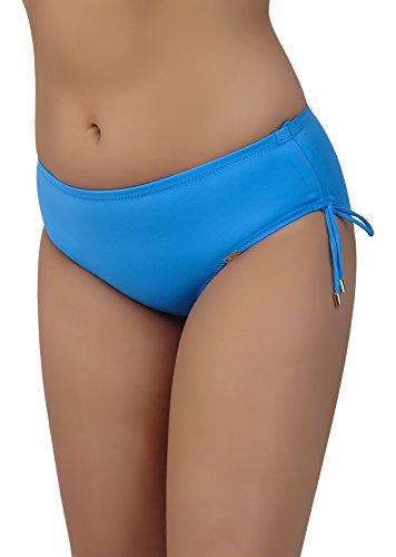 AVA Damen Bikini Slip SF 7 (Blau, M)