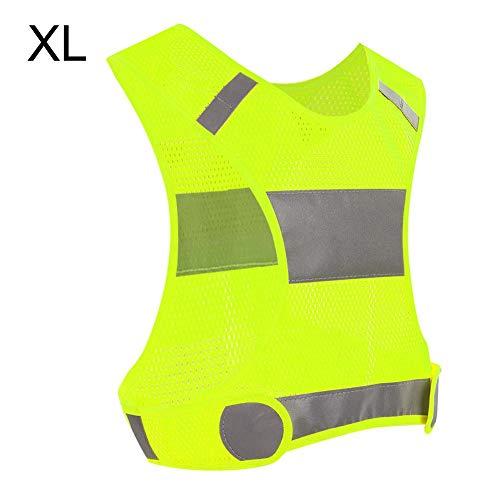 Veiligheidsvest outdoor fietsen reflecterend vest licht loopvest sport safty vest geel-XL.