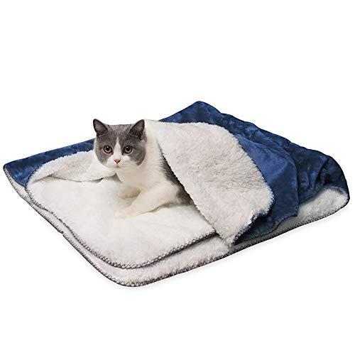 Les umes Doghouse - Manta impermeable para cama, sofá, cuna, funda protectora para bebé, forro Sherpa para sillas de coche, color azul marino, 76 x 40 pulgadas