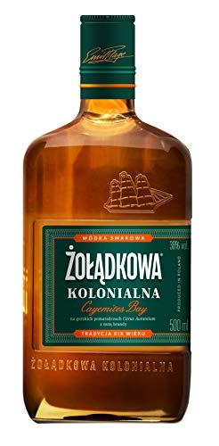 """Zoladkowa Kolonialna """"Cayemites Bay"""" 50cl Wodka 38% Vol. feine Melange von Wodka mit Bitterorangen und einem hauch von Brandy"""