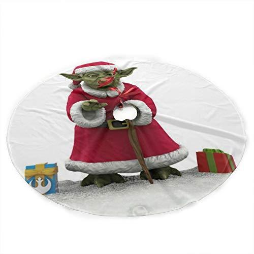 GmCslve Star Wars Yoda Christmas Christmas Tree Skirt 36 Inches Large Christmas Decorations Holiday Party Decor Ornaments