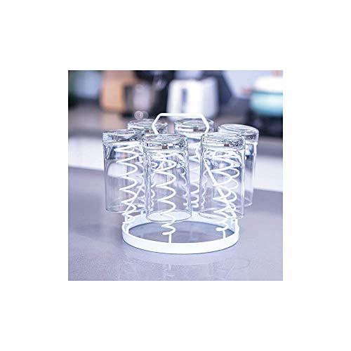 YQG Soporte para Tazas de café Soporte para Secado de Vasos de Vidrio para Beber Soporte Escurridor de Vasos para Botellas al revés Forma en Espiral para Cocina Almacenamiento en el hogar